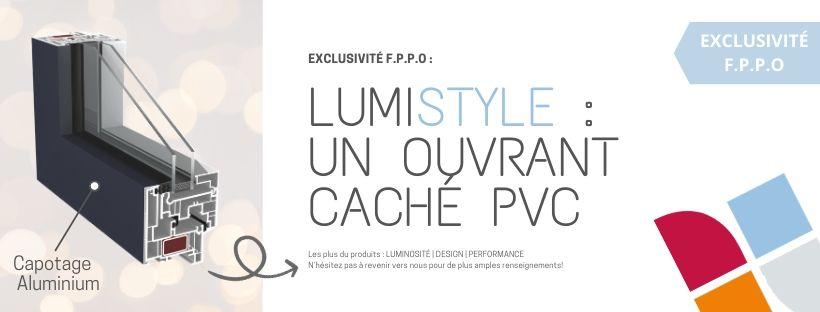 EXCLUSIVITÉ F.P.P.O: LUMIstyle, un ouvrant caché PVC !